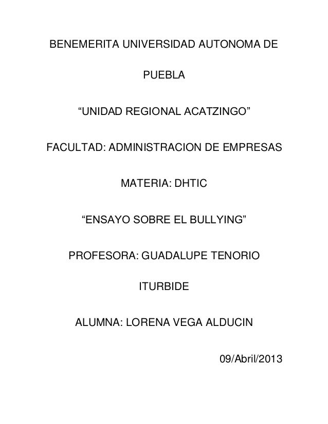 Ensayo sobre el bullying