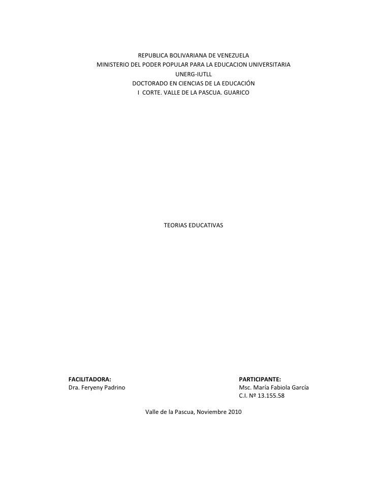 REPUBLICA BOLIVARIANA DE VENEZUELA<br />MINISTERIO DEL PODER POPULAR PARA LA EDUCACION UNIVERSITARIA<br />UNERG-IUTLL<br /...