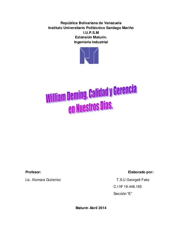 República Bolivariana de Venezuela Instituto Universitario Politécnico Santiago Mariño I.U.P.S.M Extensión Maturín. Ingeni...