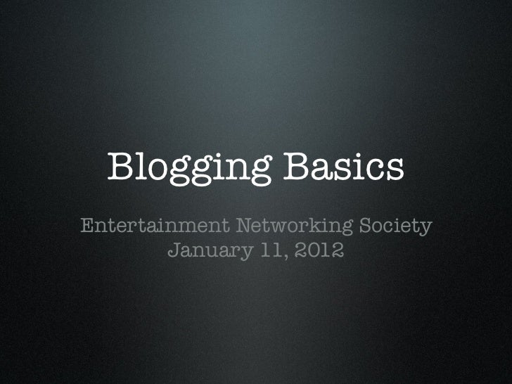 ENS Blogging