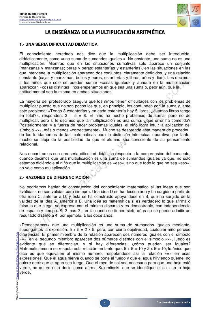 Víctor Huerta Herrera                                                 Profesor de Matemática                              ...