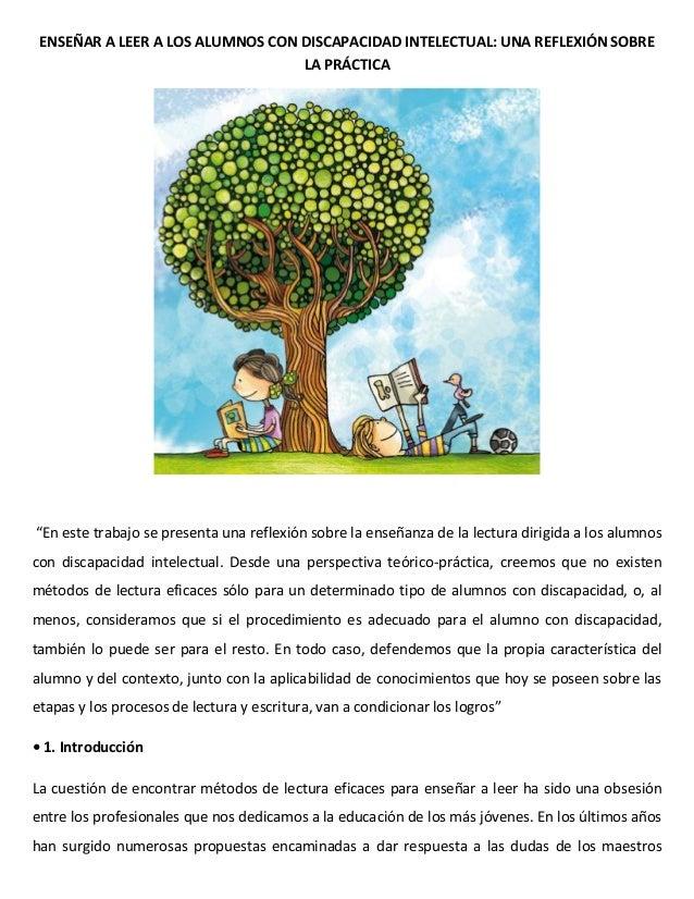 Enseñar a leer a los alumnos con discapacidad intelectual