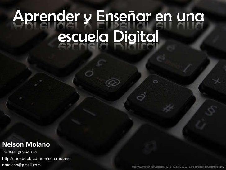 Enseñar y aprender en una escuela digital