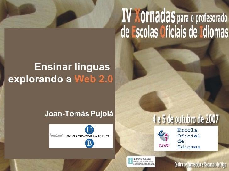 Ensinar linguas explorando a Web 2.0