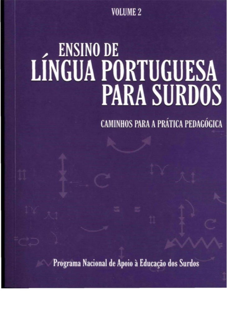 Ensino de Lingua Portuguesa em Libras volume 2