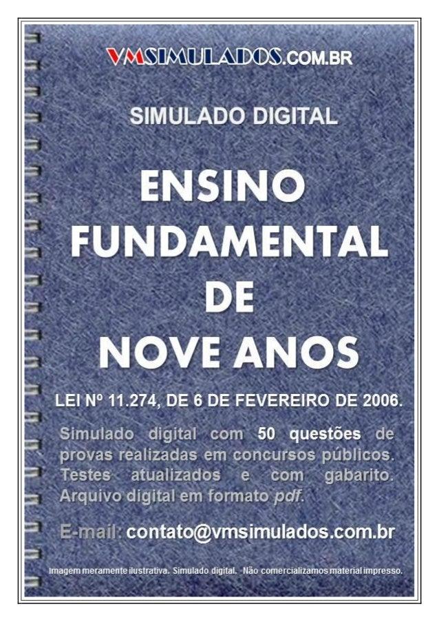 ENSINO FUNDAMENTAL DE NOVE ANOS - SIMULADO DIGITAL PARA CONCURSO PÚBLICO
