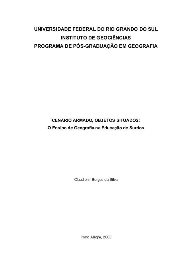 UNIVERSIDADE FEDERAL DO RIO GRANDO DO SUL         INSTITUTO DE GEOCIÊNCIASPROGRAMA DE PÓS-GRADUAÇÃO EM GEOGRAFIA     CENÁR...