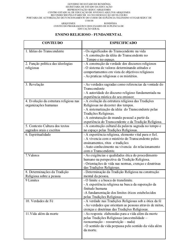 GOVERNO DO ESTADO DE RONDÔNIA                            SECRETARIA DE ESTADO DA EDUCAÇÃO                             REPR...