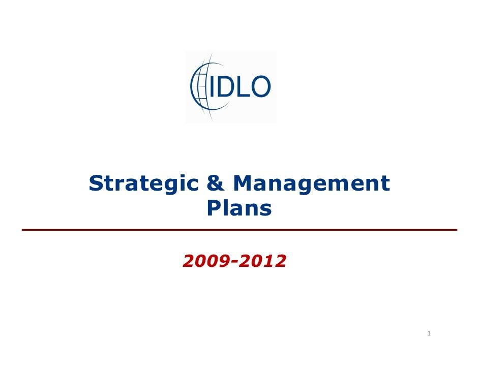 Strategic & Management           Plans        2009-2012                             1