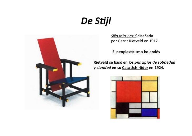 Artecom n estilos for Silla roja y azul
