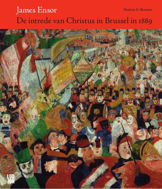 James Ensor. De intrede van Christus in Brussel in 1889