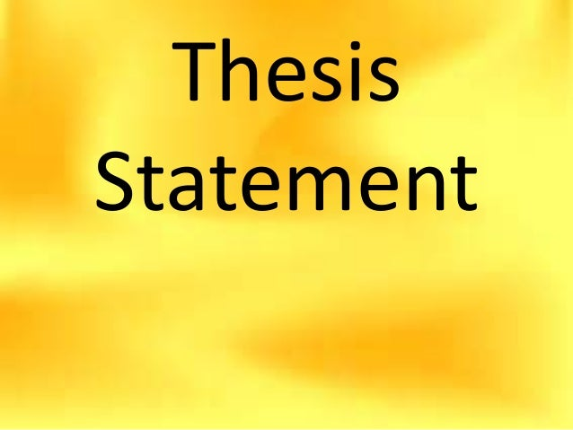 global warming thesis statements