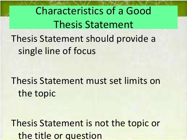 Effective thesis statements
