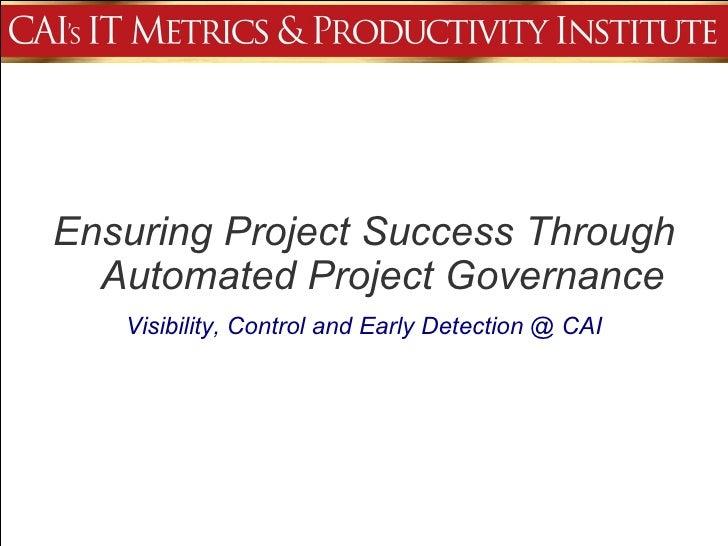 Ensuring Project Success (Cio Series Format) V1