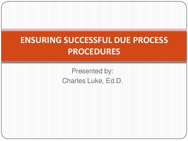 procedural due process essay question