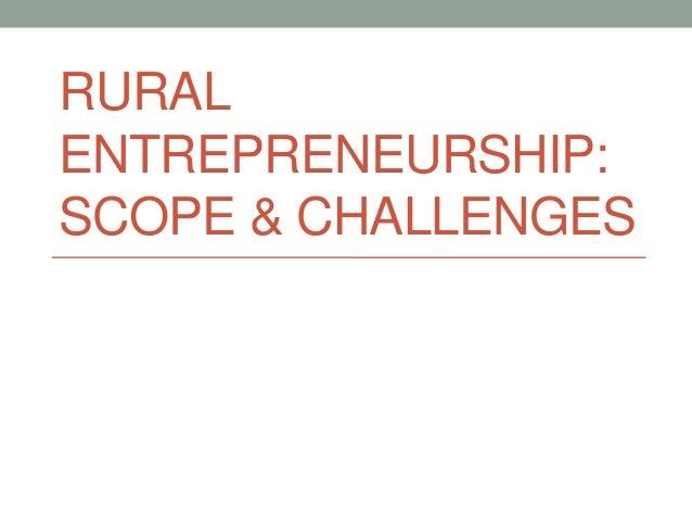 Rural Enterprenurship: Role of Government