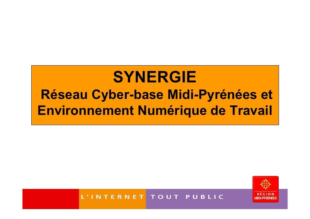 SYNERGIERéseau Cyber-base Midi-Pyrénées etEnvironnement Numérique de Travail