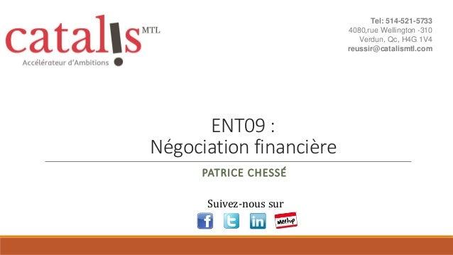 Ent09   négociation financière