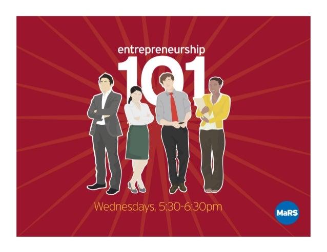 Entrepreneurship 101 -  Building A Business Model