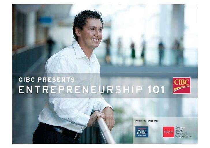Intelligent Energy Infrastructure        Entrepreneurship 101          Toronto 2008-12-03