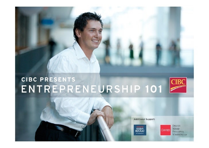 `  Introduction to Entrepreneurship 101 Presented by:  Tony Redpath MaRS Discovery District  01 October 2008