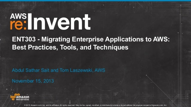 Migrating Enterprise Applications to AWS