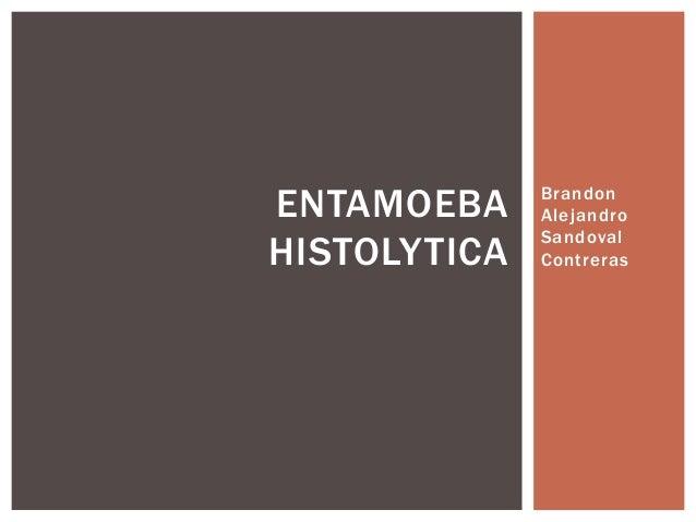 ENTAMOEBA HISTOLYTICA  Brandon Alejandro Sandoval Contreras