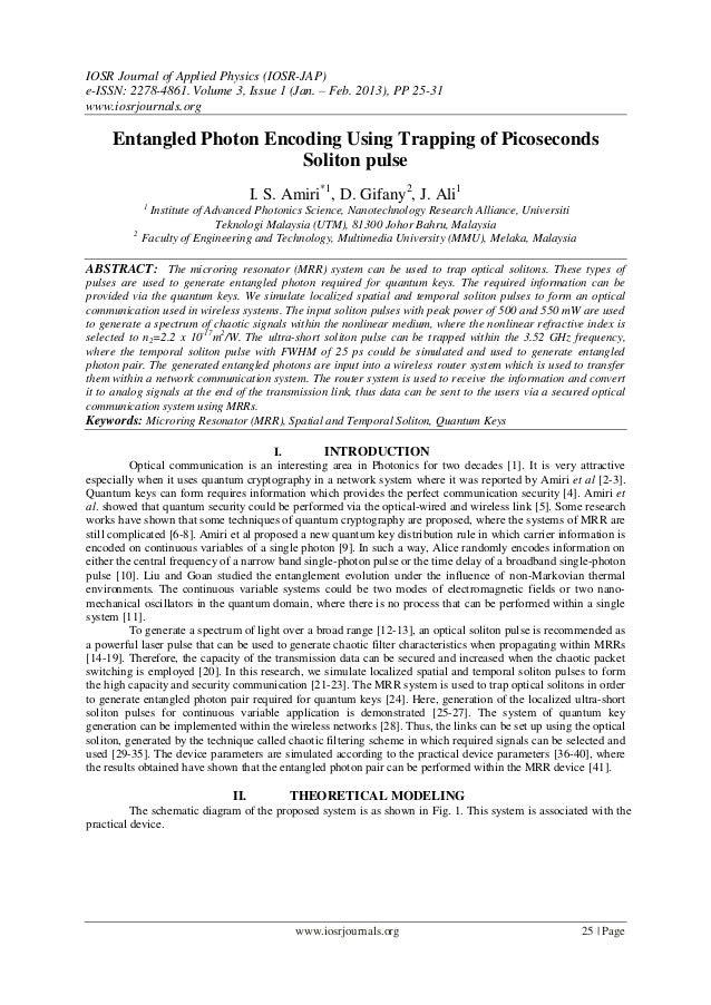 IOSR Journal of Applied Physics (IOSR-JAP)e-ISSN: 2278-4861. Volume 3, Issue 1 (Jan. – Feb. 2013), PP 25-31www.iosrjournal...