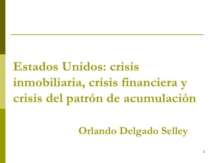 Entendiendo la Crisis Financiera