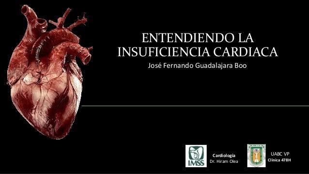 ENTENDIENDO LA  INSUFICIENCIA CARDIACA  José Fernando Guadalajara Boo  UABC VP  Clínica 478H  Cardiología  Dr. Hiram Olea