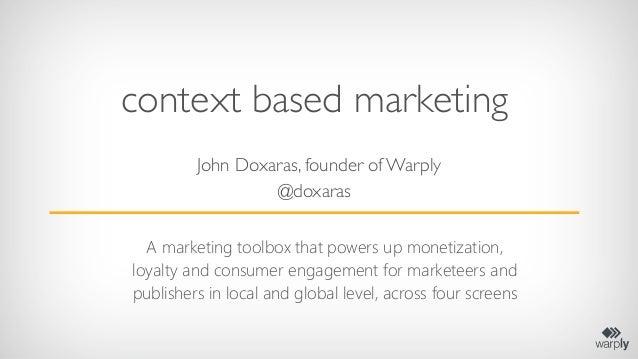 Enter2013 Travel Industry Context Marketing