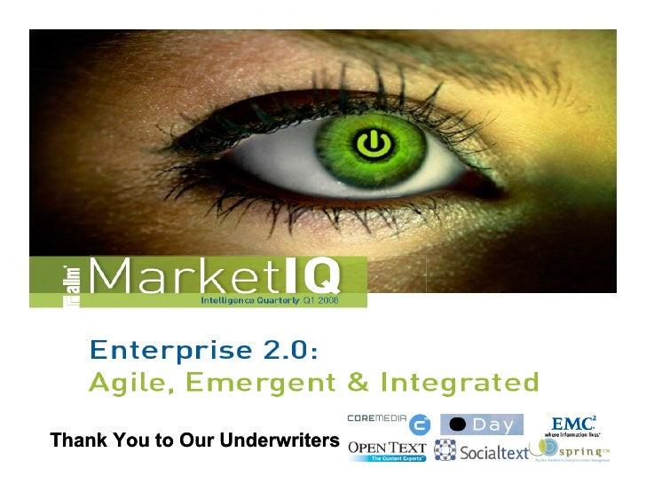 Enterprise 2.0 Market Study