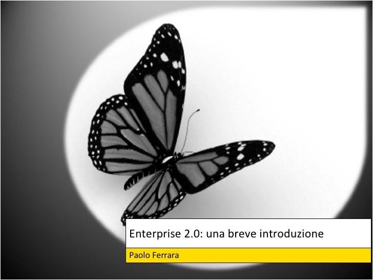 Enterprise 2.0: una breve introduzione