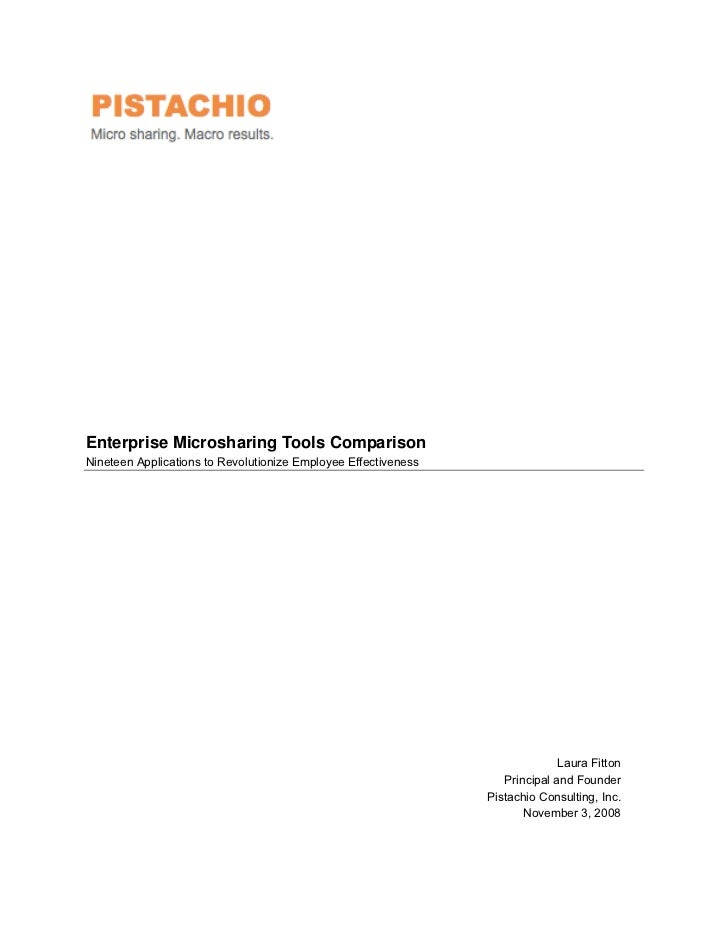 Enterprise Microsharing Tools Comparison 11032008