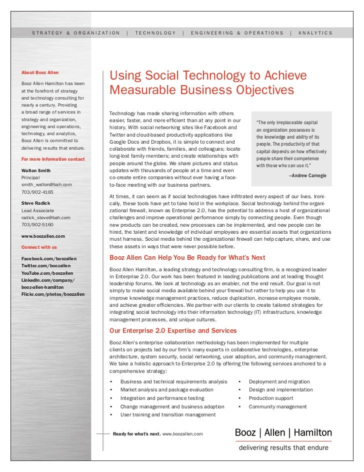 Using Social Technology to Achieve Measurable Business Objectives