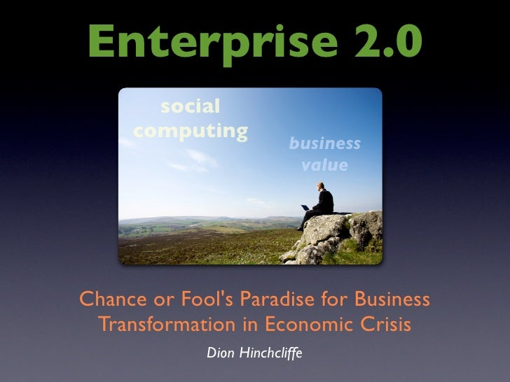 Enterprise 2.0        social      computing                           business                            value     Chance...