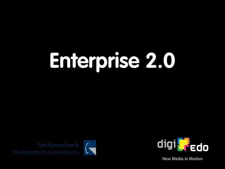 Enterprise 2.0 (Van Spaendonck)