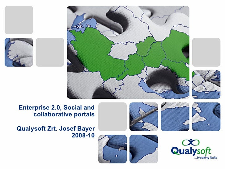 Enterprise 2.0, Social and collaborative portals Qualysoft Zrt. Josef Bayer 2008-10