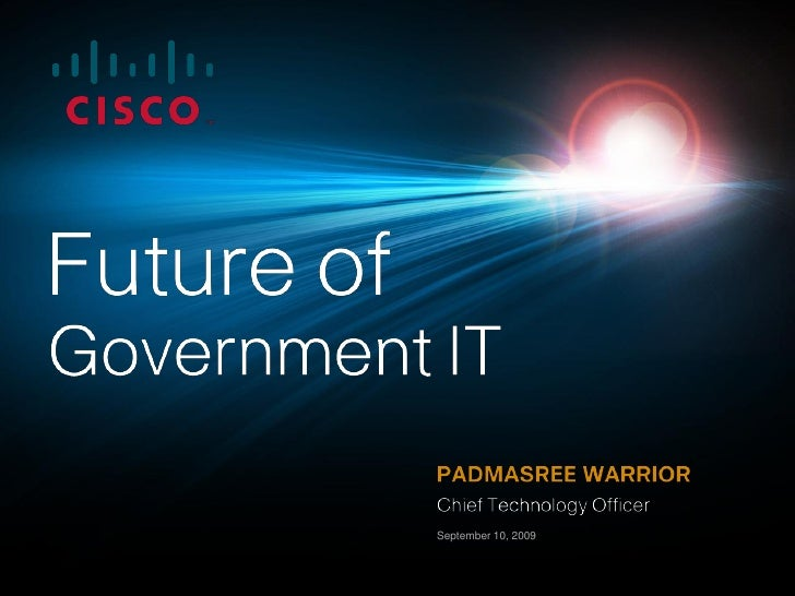 Padmasree Warrior - Enterprise Architecture 2009