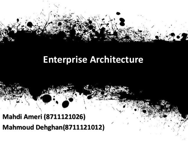Enterprise Architecture basics