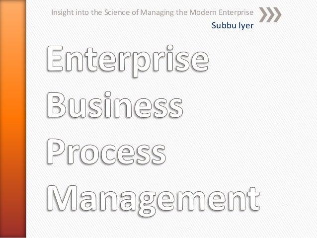 Enterprise business process management