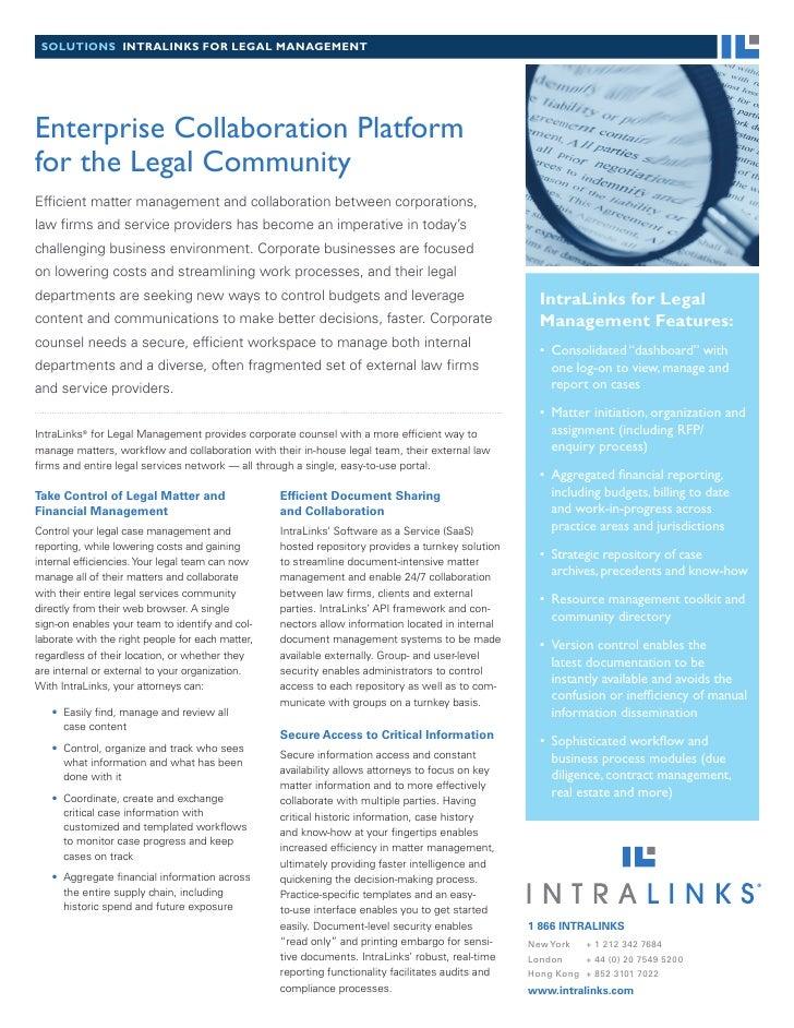 Enterprise Collaboration For The Legal Community