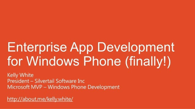 Enterprise App Development for Windows Phone