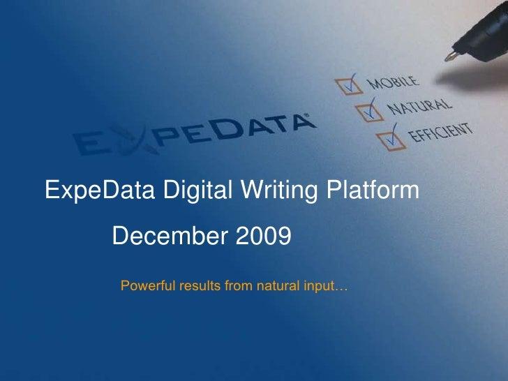 Enterprise Digital Writing