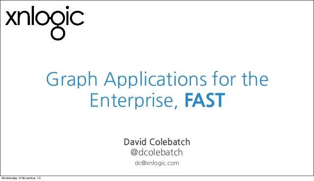 Enterprise graph applications