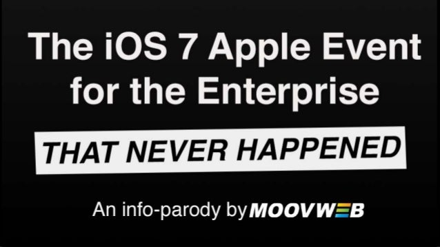 The iOS7 Apple Event for the Enterprise (that never happened)
