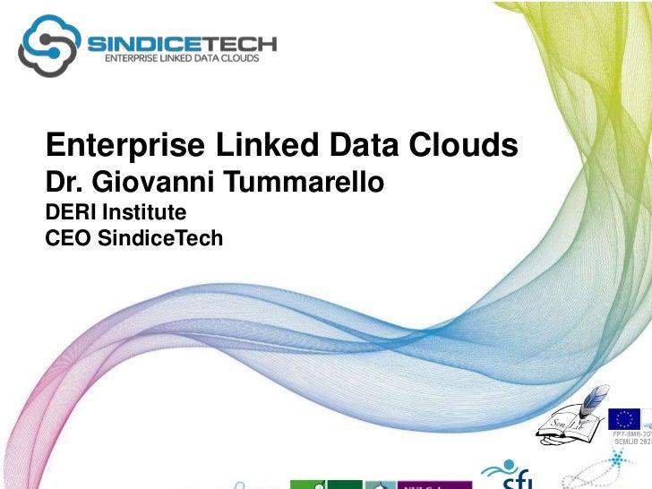 Enterprise Linked Data CloudsDr. Giovanni TummarelloDERI InstituteCEO SindiceTech