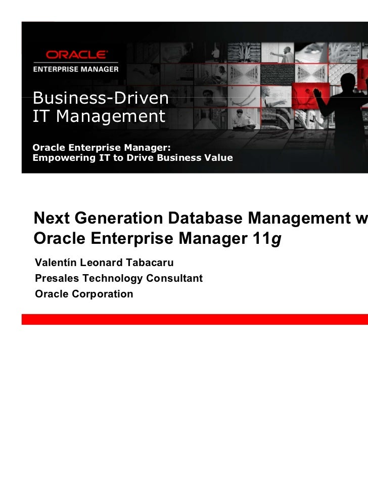 Oracle Enterprise Manager 11g