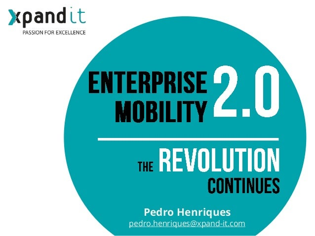 Pedro Henriques pedro.henriques@xpand-it.com