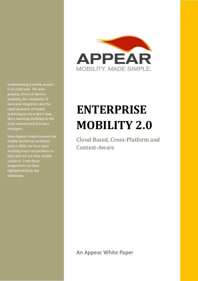 Enterprise mobility 2.0